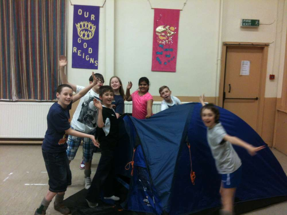 Scouts Indoor Tent Pitching